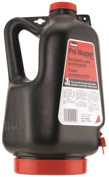 Homax 4505P Pro Hopper, For Use With Homax NO 4205, 4405P and 4610 Pneumatic Guns, 3 l Capacity