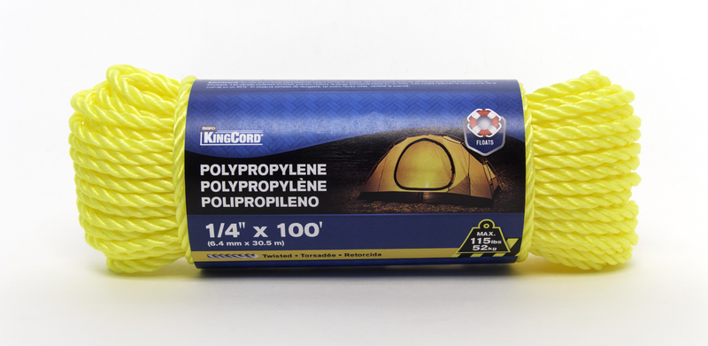 300051 1/4 IN. X100 FT. TW POLY ROPE