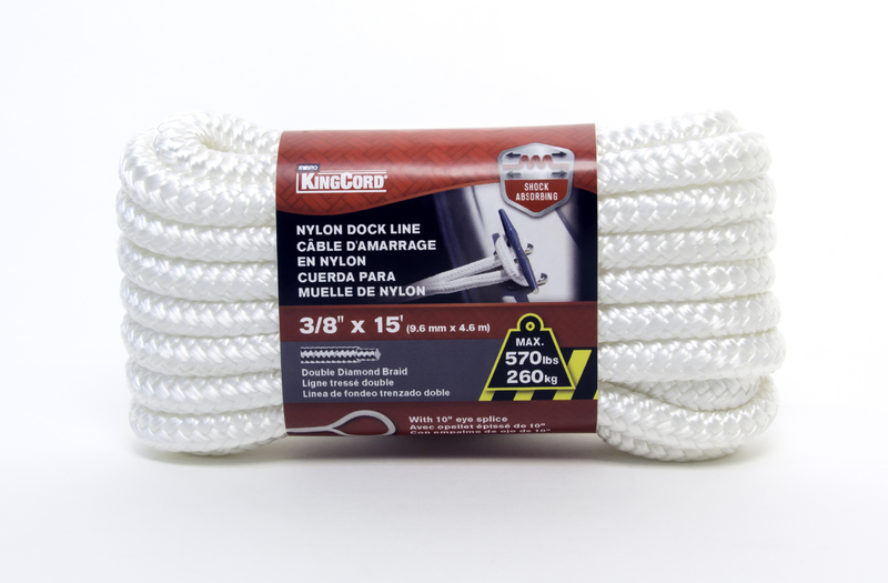 300871 3/8 IN. X15 FT. WH DOCK LINE