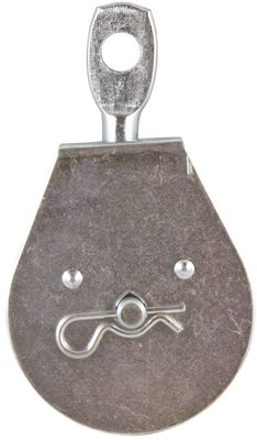 HEAVY DUTY PULLEY, SINGLE SHEAVE WITH SWIVEL EYE, ZINC, 2-1/2 IN., 1 PER CARD