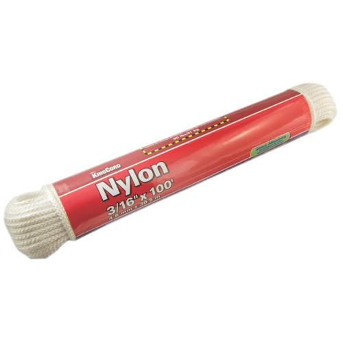 NYLON DIAMOND BRAID, WHITE, 3/16 IN. X 100 FT.