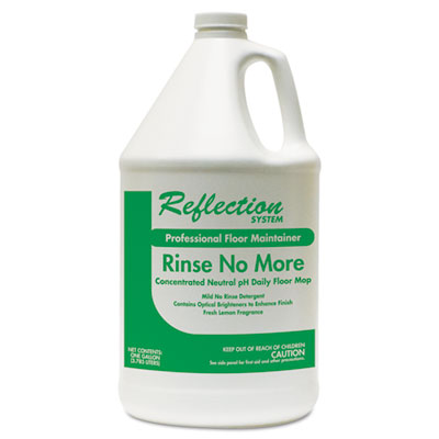 Rinse-No-More Floor Cleaner, Lemon Scent, 1 gal, Bottle, 4/Carton