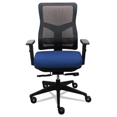 200 Mesh-Back Multifunction Chair, Navy Fabric Seat/Black Mesh Back