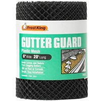Frost King VX620 Gutter Guard, 6 in W X 20 ft L, Black