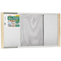 Frost King AWS1537 Adjustable Heavy Duty Window Screen, 15 in H x 22 - 37 in W, Steel, Clear