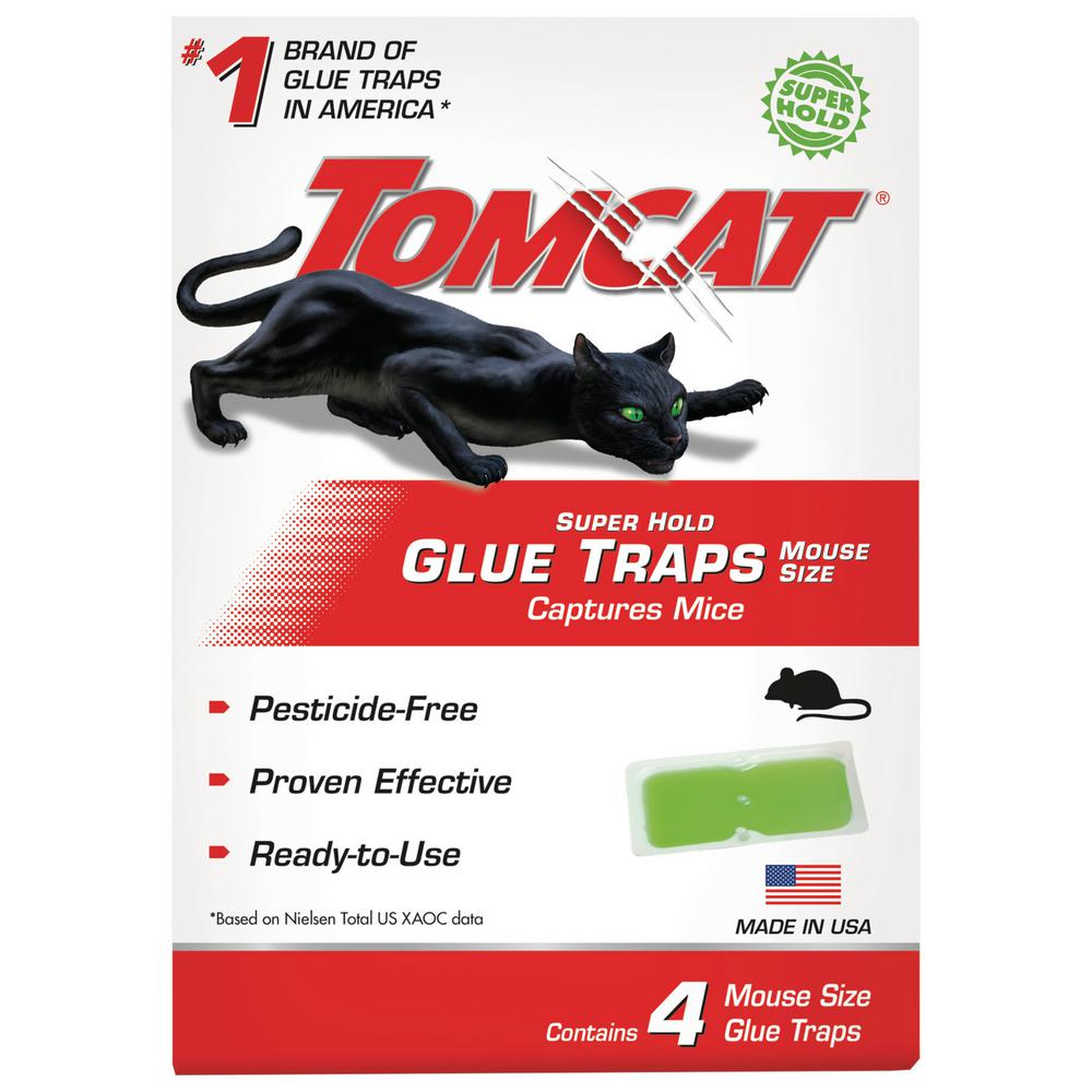 TRAP GLUE MOUSE SUPER HOLD 4PK