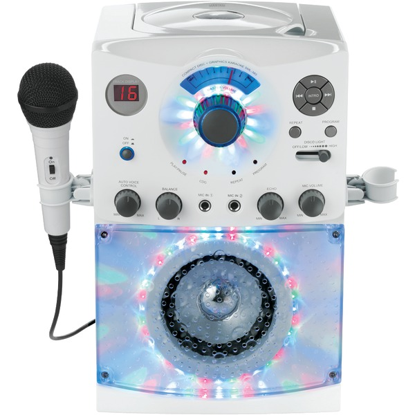 THE SINGING MACHINE SML385w Sound & Light Show Karaoke System (White)