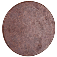 Carlon 4052-BROWN Flat Round Non-Metallic Outlet Box Cover, 4 in Dia, Brown