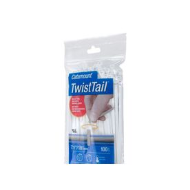 Thomas & Betts TT-14-30-9-L Twist Tail Cable Tie, 4 in, 6/6 Nylon, Natural, 14.7 in L