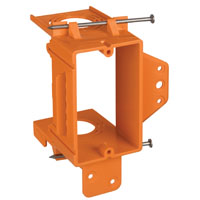 Thomas & Betts SC100ADJC Adjustable Low Voltage Non-Metallic Mounting Bracket, 3-3/4 in L X 3-7/8 in W, Orange