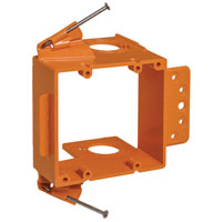 Thomas & Betts SC200ADJC Adjustable Low Voltage Non-Metallic Mounting Bracket, 3-5/8 in L X 5-5/8 in W, Orange