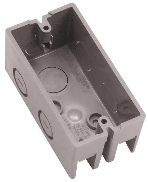 Carlon B112HB Handy Box, 1 Gang, 12 cu-in x 4 in L x 2-1/8 in W x 1-7/8 in D