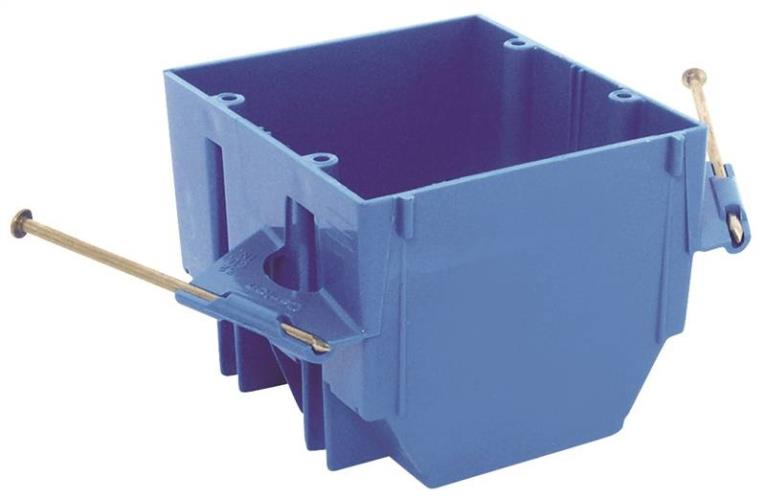 Thomas & Betts B232A-UPC Outlet Box, 2 Gang, 32 cu-in, 3-3/4 in L X 4 in W X 3 in D