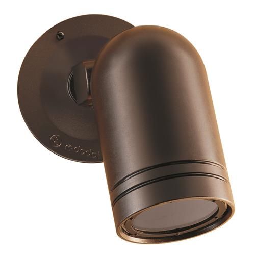 WALL SPOT LIGHT WITH COVER BRONZE
