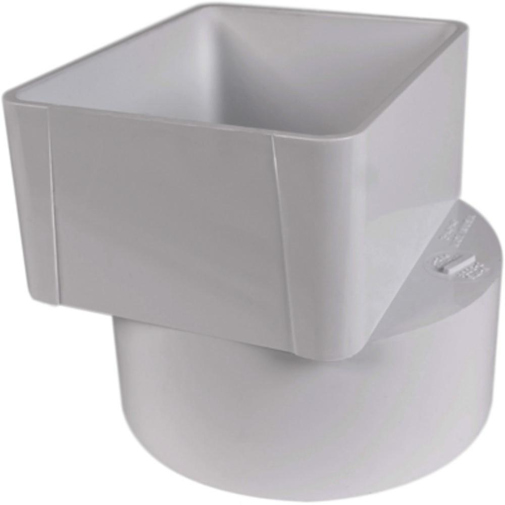 36-654 3X4X4 WHITE PVC D ADAPTER