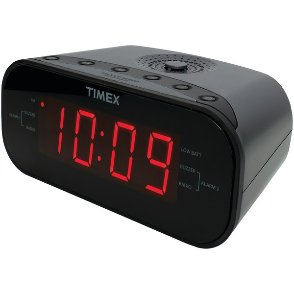 Timex Audio T231GRY2 AM/FM Dual Alarm Clock Radio with Digital Tuning (Gunmetal Gray)