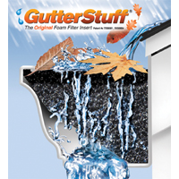 GutterStuff GS-K5 Foam Filter, 5 in W X 4 ft L, For Use With 5 in K Style Gutter