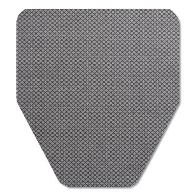 """Komodo Urinal Mat, 18"""" x 20"""", Gray, 6/Carton"""