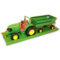 TRACTR TOY WITH/FLARE BOX WAGN