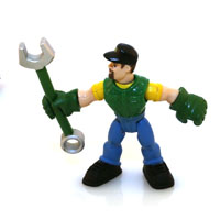 TOY GEAR FORCE FIGURES W/TOOL