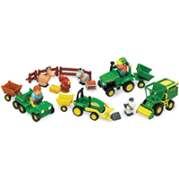 FARM SET TOY 20 PIEC JOHN DEER