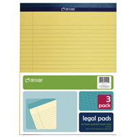 LEGAL PAD YELLOW 8.5X11-3/4IN