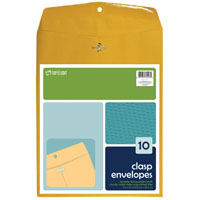 Top Flight 74413 Kraft Clasp Envelope, 9 X 12 in, 24 lb