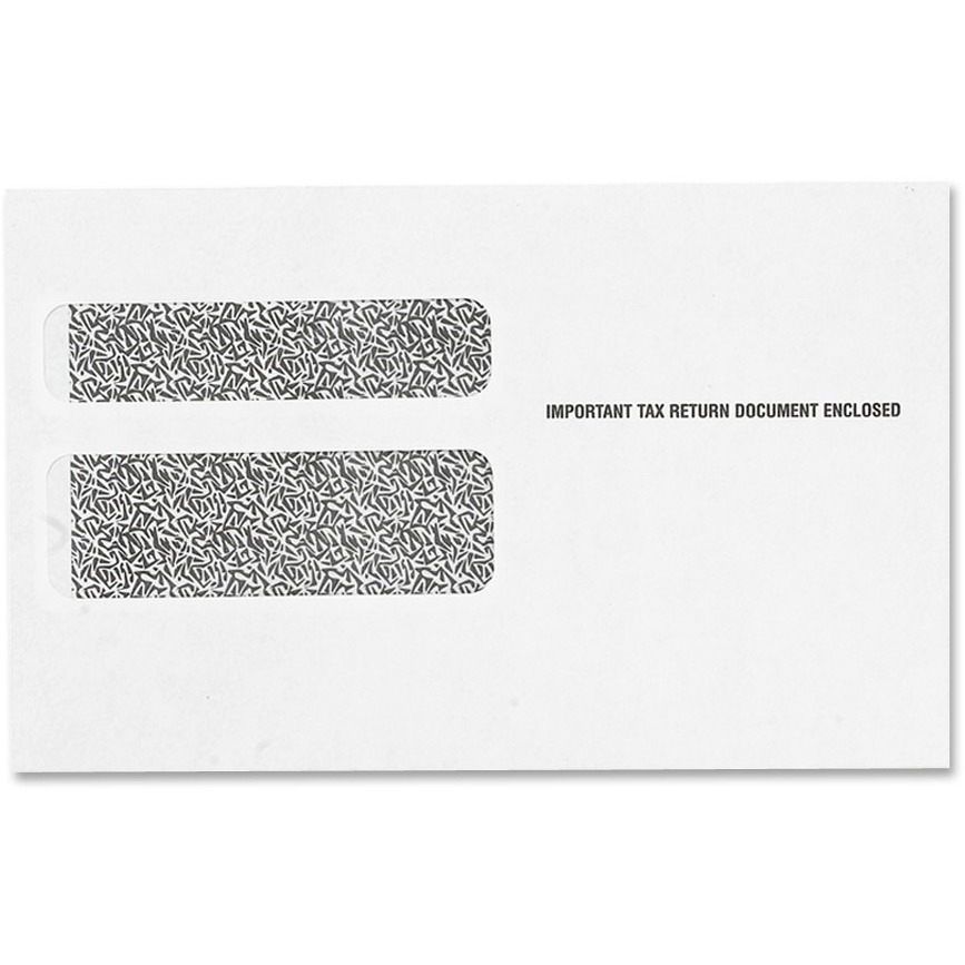 Double Window Tax Form Envelope for W2 Laser Forms, 5 5/8 x 9, 50/Pack