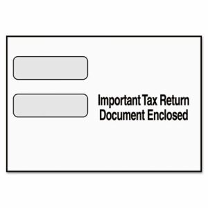 Double Window Tax Form Envelope/1099R/Misc Forms, 9 x 5 5/8, 24/Pack