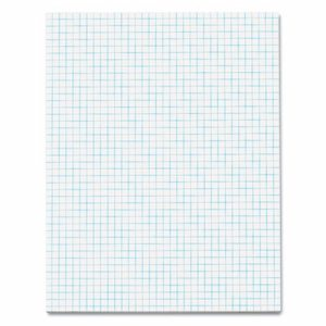 Quadrille Pads, 4 Squares/Inch, 8 1/2 x 11, White, 50 Sheets