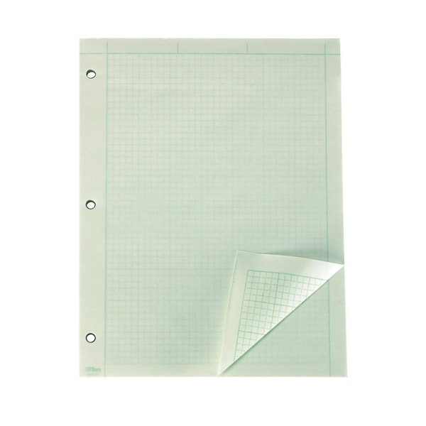 Engineering Computation Pad, 8 1/2 x 11, Green, 100 Sheets