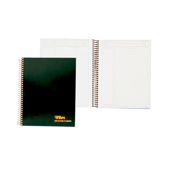 JEN Action Planner, Ruled, 8 1/2 x 6 3/4, White, 84 Sheets