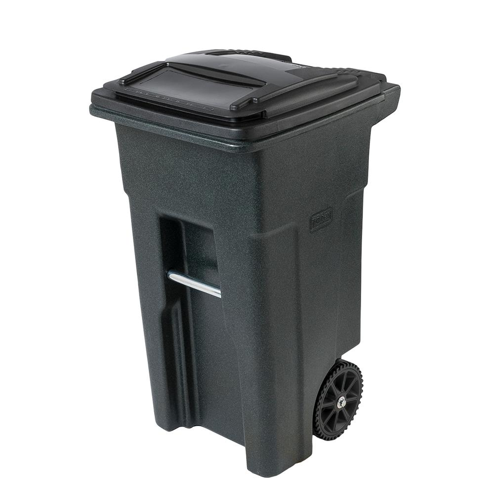 TRASH CAN 2WHEEL PLST HD 32G