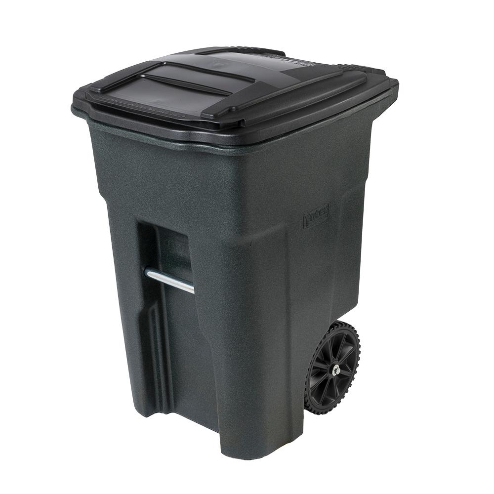 TRASH CAN 2WHEEL PLST HD 48G
