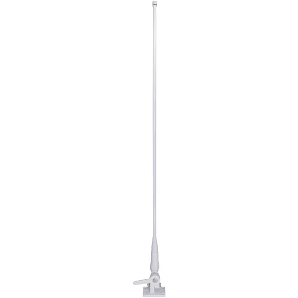 "Tram 1614 46"" VHF 3dBd Gain Marine Antenna with Cable Built into Ratchet Mount"
