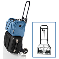 Travel Smart TS33HDCR Heavy Duty Luggage Cart, 150 lb, Metal, Black