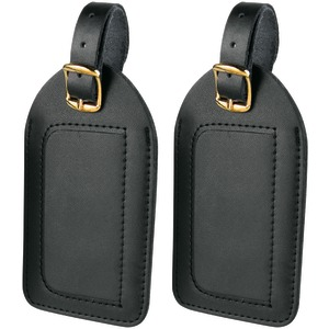 Travel Smart P2010 Leather Luggage Tags, 2 pk