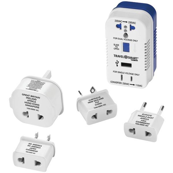 Travel Smart TS703CRN 2-Outlet, 1,875-Watt Converter for Single- & Dual-Voltage Appliances