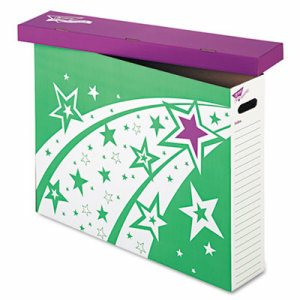 File 'n Save System Chart Storage Box, 30-3/4 x 23 x 6-1/2, Bright Stars Design