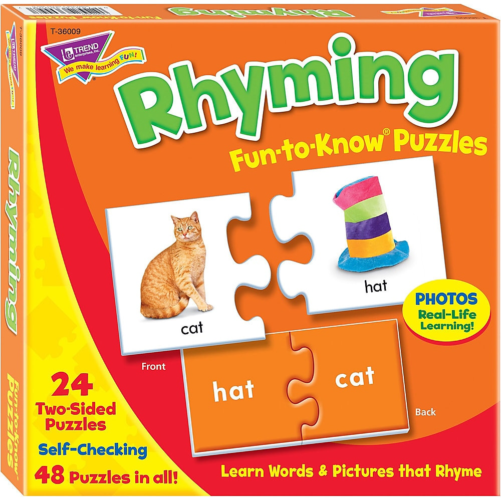 Fun to Know Puzzles, Ages 3 to 9, 24 2-Sided Puzzles