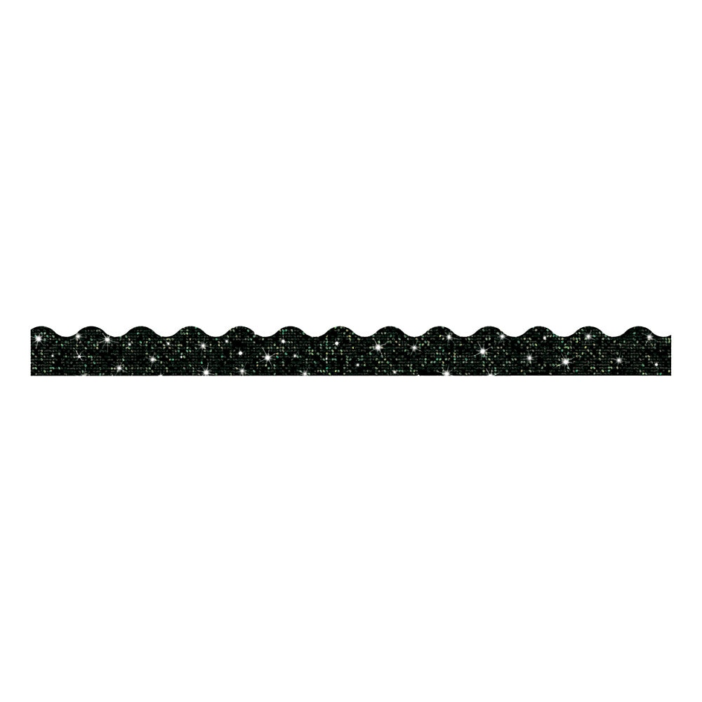 "Sparkle Terrific Trimmers, 2 3/4"" x 32 ft, Sparkles, Black"