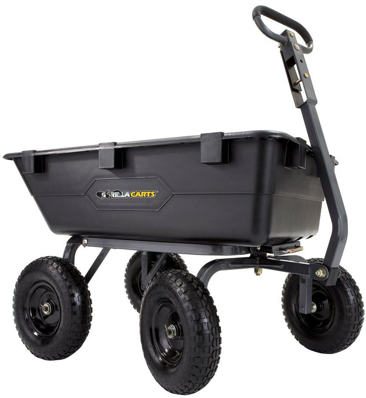 GOR6PS 1200LB POLY DUMP CART