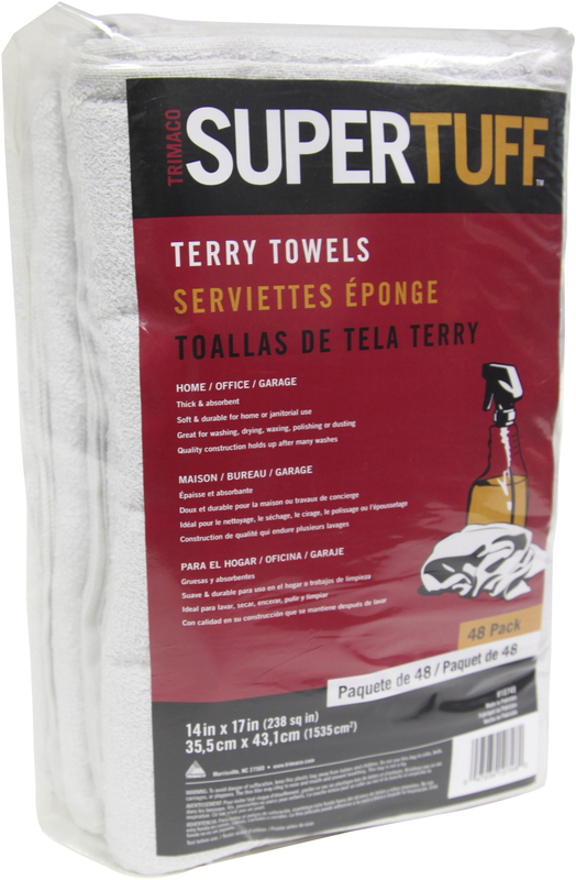 10748 48CT WHT TERRY TOWELS