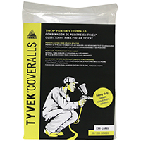 Trimaco 14125 Disposable No Elastic Painter's Coverall, 3X-Large, Tyvek, White