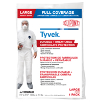 COVERALL PAINT TYVEK WHT LARGE