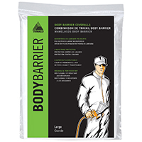 Bodybarrier 09953 Professional Grade Painting Coverall, Large, Polyolefin, Elastic Ankle, Elastic Wrist Cuff