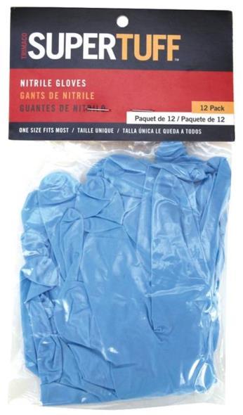 GLOVES BLUE NITRILE 12 PACK