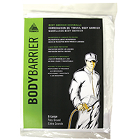 Bodybarrier 09955 Professional Grade Painting Coverall, X-Large, Polyolefin, Elastic Ankle, Elastic Wrist Cuff