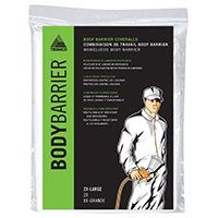 Trimaco BodyBarrier Lightweight Disposable Painter's Coverall, 2X-Large, White, Elastic Cuff