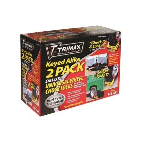 Trimax Wheel Chock Lock 2-Pack 12
